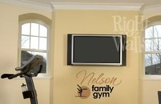Family Fitness Gym Custom Vinyl Wall Decal by RightOnTheWalls, $29.00