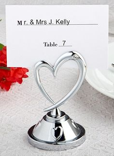 Distinctively Modern Heart Place Card Holders From Wedding Favors Unlimited