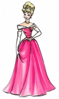 Aurora/Sleeping Beauty fashion Concept Art