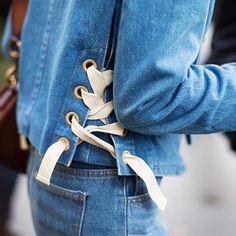 ☄☄ via @she_just_knows #denim #doubledenim #denimondenim #blue #jeans #doubledenimaddiction