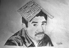 Una idea, mucho arte Gabriel García Márquez Lápiz grafito/papel, 25 x 35 cm Autora: Virtudes Molina