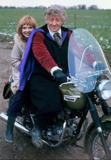 The Third Doctor Who on a bike