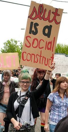 """""""Slut is a social construct""""  [follow this link to find an analysis of the Madonna-whore complex, which draws from Lupe Fiasco's music video """"Bitch Bad"""": http://www.thesociologicalcinema.com/1/post/2012/09/bitch-bad.html]"""