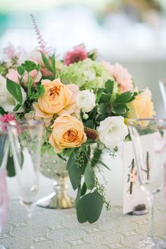Summer garden wedding flowers: http://www.stylemepretty.com/massachusetts-weddings/waltham/2017/03/02/happiness-is-a-gorgeous-garden-celebration-in-the-sunshine/ Photography: Lisa Rigby - https://lisarigbyphotography.com/