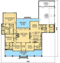 Secluded Master Suite - 56363SM | 1st Floor Master Suite, Acadian, Bonus Room, Butler Walk-in Pantry, Corner Lot, European, French Country, Jack & Jill Bath, PDF, Photo Gallery, Southern | Architectural Designs