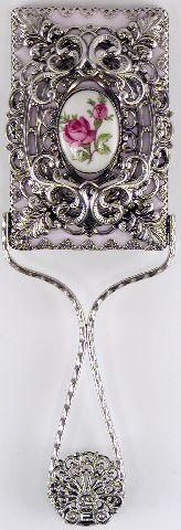 Silver Plate Hand Mirror