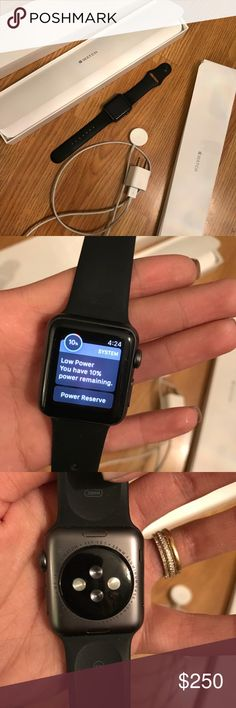 Small Apple Watch Used but in good condition, comes with box and everything. Includes longer strape. apple Accessories Watches