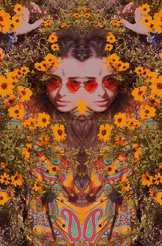 Psychedlic Hippie Flower Child #bohemianbeauty #johnnywas