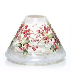 Snowberry candle shade by Yankee Candle Co.