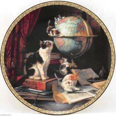 Globetrotters Feline Fancy 1993 Victorian Cats Kittens Ronner Bradford Plate COA | eBay