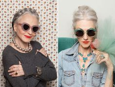 omg, i seriously just found my fashion inspiration for my future grandma self! I am excited that i can keep my chambray and hair braids forever:)