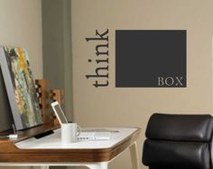 Vinyl Wall Lettering Think Outside the Box by WallsThatTalk