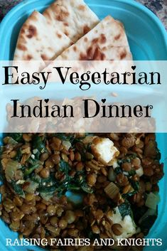Easy Vegetarian Indian Dinner - This is such an easy dish to make and sure to be a family favourite. For kids of all ages and a quick dish to make making it great after a day of work.