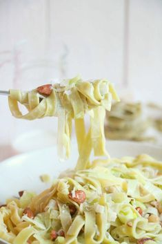Quick Healthy Meals, Good Healthy Recipes, Tagliatelle Pasta, Sauce Crémeuse, I Want Food, Vegetarian Recepies, Easy Diner, Good Food, Yummy Food