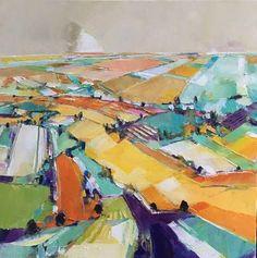 NEW Caudron original, La rondeur des jours. 24x24. Visit The Westport River Gallery for more of his work.