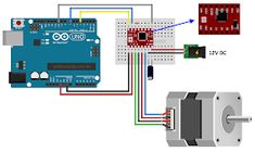 Arduino Motor, Software, Cnc, Arduino Projects, Printers, Step By Step, Study, Motors, Arduino Circuit