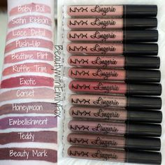 NYX Lip Lingerie Swatches