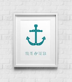Wall Art You Me and the Sea Typographic Print Poster by GulfRoad