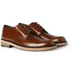 0b8ac472d0b70c Acne Bleeker Contrast Sole Leather Derby Shoes Mens Derby Shoes