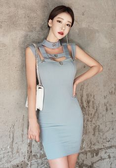 Dress Up, High Neck Dress, Bodycon Dress, Yu Jin, Korean Model, Sexy Body, Asian Beauty, Korean Fashion, Fashion Outfits
