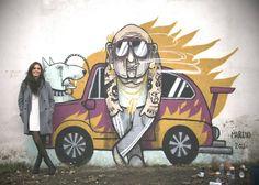 Marina Capdevila in Barcelona, Spain, 2012 Spanish Artists, Urban Art, Graffiti, Art Gallery, Wood, Illustration, Creative, Painting, Image