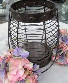 Windlicht Eisen Glas Dekoration