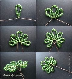 Best 9 Beaded beads tutorials and patterns, beaded jewelry patterns, wzory bizuterii koralikowej, bizuteria z koralikow – wzory i tutoriale – SkillOfKing. Seed Bead Flowers, French Beaded Flowers, Wire Flowers, Beaded Flowers Patterns, Beaded Jewelry Patterns, Beading Patterns, Beaded Crafts, Beaded Ornaments, Wire Crafts