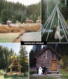 Dunton Hot Springs Wedding, restored ghost town in Dolores, Colorado Unusual Wedding Venues, Luxury Wedding Venues, Rustic Wedding Venues, Beautiful Wedding Venues, Wedding Locations, Wedding Destinations, Wedding Ideas, Destination Weddings, Wedding Show