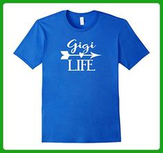Mens Gigi Life Tshirt Gift Mothers Day Birthday Grandma Medium Royal Blue - Holiday and seasonal shirts (*Amazon Partner-Link)