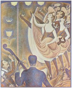 """""""La Chahut"""" (Can Can), 1889-90. Georges Pierre Seurat, 2 December 1859 – 29 March 1891."""