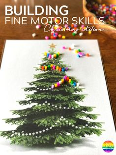 Christmas Fine Motor Skills Mats - build and strengthen fine motor skills with the help of these Christmas themed printable play mats | you clever monkey