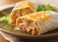 Love this Creamy Turkey Burritos Recipe but i will replace the white for wheat tortillas and bake them instead of microwave.