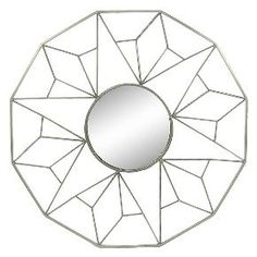 Nate Berkus Gold Geometric Mirror