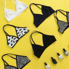 Just the basics - monochrome cotton intimates & coordinating nail polish.