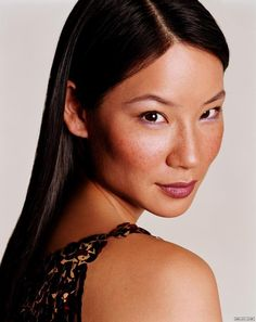Lucy Liu's Freckles!