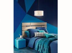 Peinture graphique bleue mur bleu de minuit