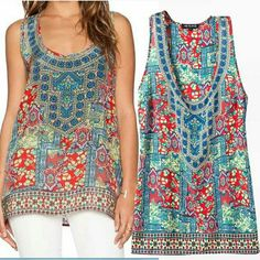 22027 - Ethnic Colorfull (S,M,L) Casual Top Rp. 190.000,-  Soft hemp M : length 71 bust 97 L : length 72 bust 102 Review: Very good, soft : high, thick: medium-, elastic: no
