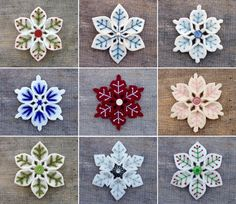 felt snowflake tutorial - Google Search                                                                                                                                                     More
