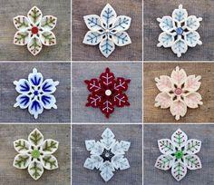 felt snowflake tutorial - Google Search