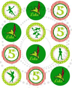 Peter Pan Party Printable KIT - Neverland Peter Pan Party  for boy- Digital File - PDF. $29,00, via Etsy.