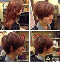 kurze Frisuren - Long Pixie Haircut with Side Bangs - Short Hairstyles 2015 - Im Pin Longer Pixie Haircut, Short Pixie Haircuts, Pixie Hairstyles, Pretty Hairstyles, Short Hair Cuts, Easy Hairstyles, Short Hair Styles, Pixie Cuts, Haircut Short