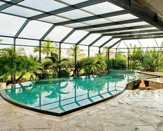A screened enclosure keeps insects and debris out of your pool, making swimming or simply relaxing poolside more pleasant. Choose a style that blends with your house, and your pool area becomes an extension of your home. Our customers can select a bronze or white frame and a dome or mansard roof.
