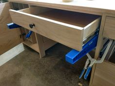 Install Full Extension Drawer Slides - Easy DIY - The Definitive Guide Miter Saw Table, Drawer Ideas, Truck Bed Camper, Shop Class, Dresser Drawers, Extensions, Easy Diy, Woodworking, Drawers