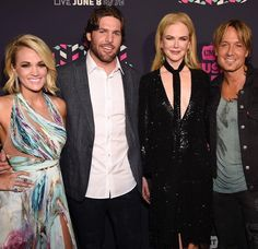 Carrie Underwood and Mike Fisher and Keith Urban and Nicole Kidman