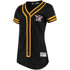 d4d90ff9852 MLB Women s Pittsburgh Pirates - Majestic Black Gold Absolute Victory  Fashion Team Jersey - Product