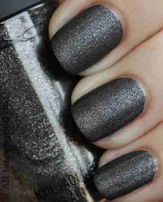 Matte gray glitter...