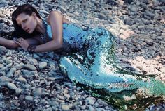 """Lilogi.com - inspiration image, """"under the sea"""" week, fashion, editorial #sequins, #water, #photography, #fashion, #ocean"""