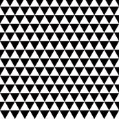 triangles black and white smaller scale by katarina, Spoonflower digitally printed fabric, wallpaper, and gift wrap