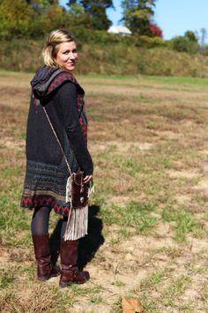 Falling for Boho: Dakota Collective Dress, Biya Cardigan, Frye Smith Harness Boots, Bed Stu Fringe Bag, Tribal Necklace, Bullet Shell and Quartz Earrings // #dressingup #dressingupwithlinnea #whatiwore #ootd #fallstyle #fallfashion #longcardigan #frye #boots #boho #bohostyle #bohofashion #dakotacollective #biya #biyacardigan #fallsweater #fallcolors [Styled by The Yellow Button & Linnea White, Photography by Megan Tiernan]