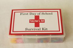 It's Written on the Wall: {Teacher Appreciation Gift} First Day of School Survival Kit